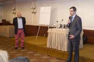 Ο Διευθύνων Σύμβουλος της ΑΧΑ και Πρόεδρος του ΣΕΣΑΕ Ερρίκος Μοάτσος, προλόγισε την παρουσίαση του Μανούσου Μαροπάκη